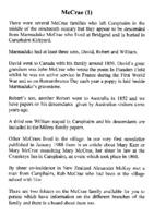 McCrae Family History 1