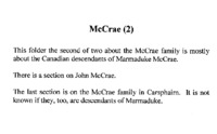 McCrae Family History 2