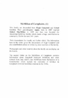MacMillan of Carsphairn Family History 1